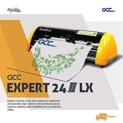NEW GCC Expert Ⅱ LX 24 Vinyl Cutter Plotter w/ FREE Software + FREE Shipping