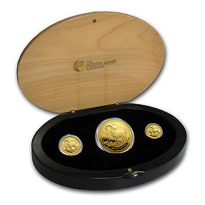 2015 Australia 3-Coin Gold Lunar Goat Proof Set (1.35 oz) - SKU #84490