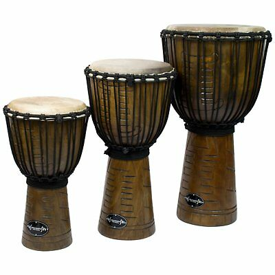 Wooden Djembe Drums by World Rhythm Percussion - African Drum in