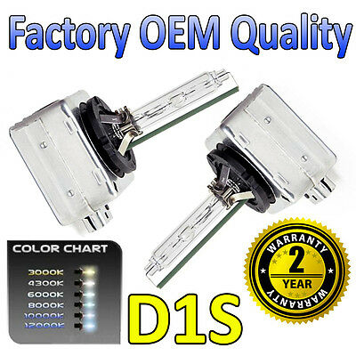2 x 6000k D1S HID Xenon OEM Replacement Headlight Bulbs 66144 - 2 Year Warranty