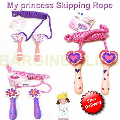 NEW My Princess Little Girl's Wooden handled Skipping Rope's Kid's Toy's game's