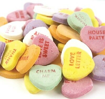 NECCO Large Conversation Hearts Valentine Candy 10 pounds SPECIAL BUY!!
