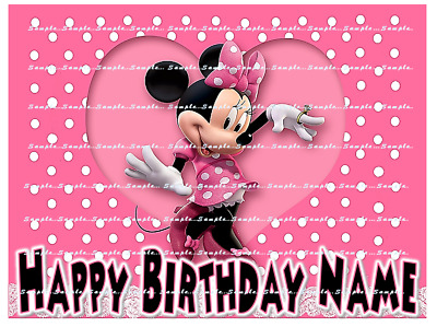 MINNIE MOUSE: personalized edible image cake toppers FREE SHIPPING
