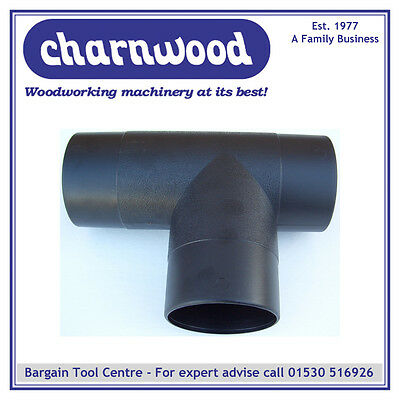 Charnwood 100T 100Mm Diameter T-Piece For Wood Dust Extraction Hose