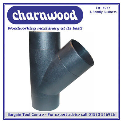 Charnwood 100Y 100Mm Y-Piece Hose Connector For Woodworking Dust Extraction