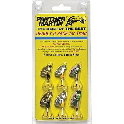 Panther Martin Deadly 6 pack with Red Hooks