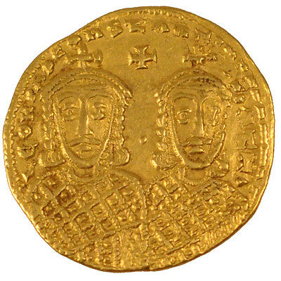 [#24521] Leo IV and Constantine VI 775-780, Solidus, Constantinople, Gold,...