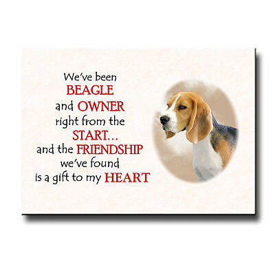 Beagle Friendship Fridge Magnet Love