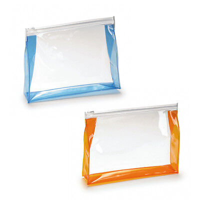Travel Zip Bag - Cosmetics Airport Transparent Liquid Toiletries Cabin Holiday