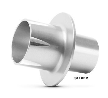 Silver P1X Tip Two Brothers Racing Powertip Power Quiet M-Series Exhaust Natural