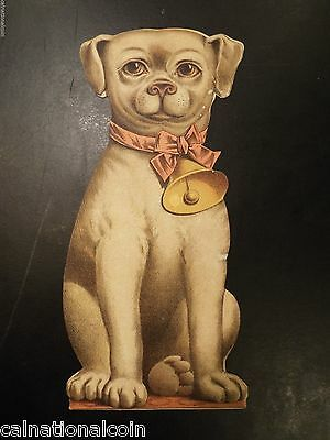 Bogue's Soap Vintage Dog Shaped Cardstock Advertising and Instruction Plaque