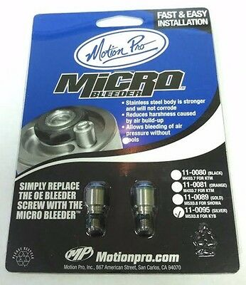 Motion Pro Micro Bleeder for KYB Forks  M5x0,8 - Silver 11-0095*