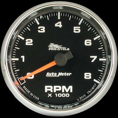 Auto Meter 2 5/8in. Electronic Tachometer  Black Face 19306*