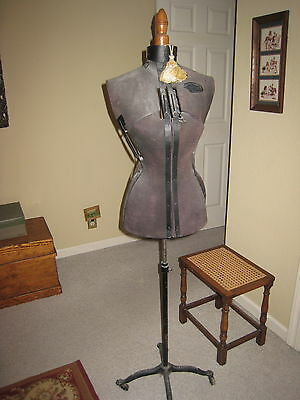 HALL- BORCHERT CO. ANTIQUE VICTORIAN SEWING DRESS FORM