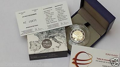 2 euro 2015 Fs proof BE PP FRANCIA france frankreich 70 pace paix peace мир 和平