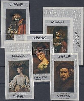 North Yemen stamp Rembrandt paintings (II) MNH Imperforated 1968 WS162398