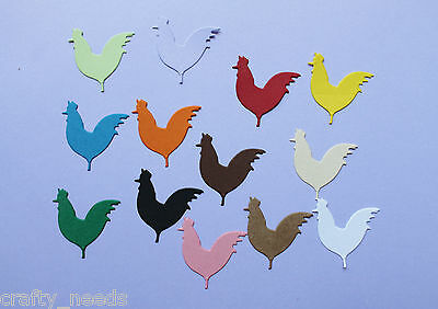 10 PC - ROOSTER Animal   Die Cuts Embellishments Scrapbooking