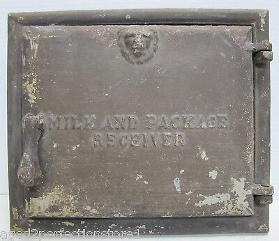 Antique Majestic Co Milk and Package Receiver Door old architectural cast iron