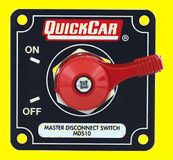 QuickCar Battery Master Disconnect Switch Emergency Cut Off Black