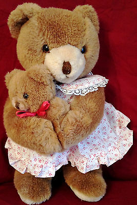 """Vintage SCHMID BEAR Stuffed Plush MUSICAL  16""""  31 YEARS YOUNG"""
