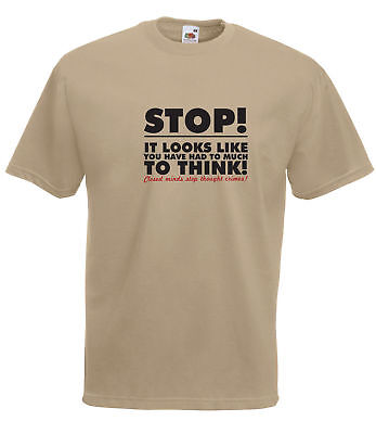George Orwell 1984 Thought Police 'Stop Too Much Time To Think' Quality T Shirt