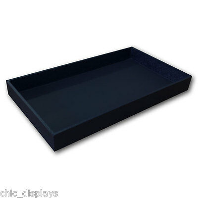 """1 1/2"""" High Wooden Jewelry Tray Leatherette Covered Display Tray  Wooden Tray"""