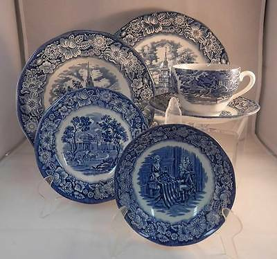 Staffordshire LIBERTY BLUE Dinnerware- Multiple Items & Qty- Buy What You Need