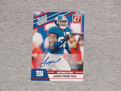 2010 Donruss Rookie New York Giants Jason Pierre Paul Rookie Autograph Auto