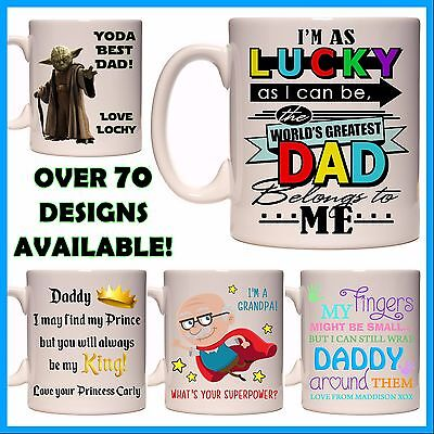 Personalised Father's Day Mug, Name or Msg, Many Designs, Gift Idea - Daddy, Dad