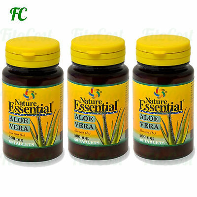 ALOE VERA 500 mg. 180 Comprimidos - NATURE ESSENTIAL -