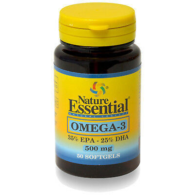 OMEGA 3 (EPA 35% / DHA 25%) 500 mg. 50 Perlas - NATURE ESSENTIAL -