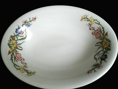 VINTAGE MAYER CHINA~RESTAURANT WARE OVAL SAUCE DISH~SOAP DISH ~FLORAL TRANSFER