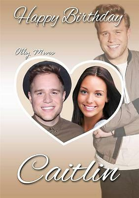 Personalised Olly Murs Photo Birthday Card