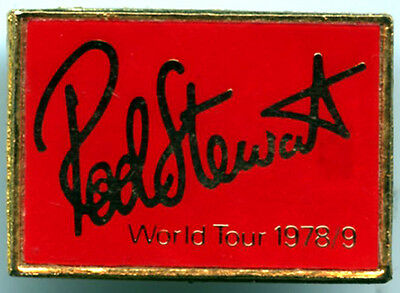 Rod Stewart World Tour 1978 Metal Pin