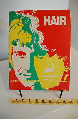 Original Hair 1969 Musical Program and Playbill San Diego Touring Show Beautiful