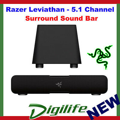 Razer Leviathan 5.1 Channel Gaming Surround Sound Bar Speakers with Subwoofer