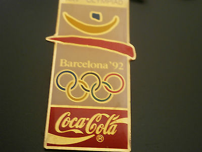 Coca Cola Barcelona 92 Olympics Advertising Pin Badge Stud Fitting