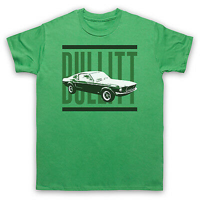 Steve Mcqueen Ford Mustang Bullitt Unofficial Mens Ladies Kids Sizes And Colours