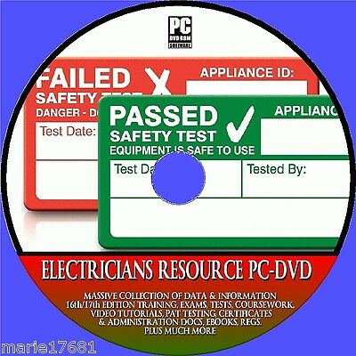Electricians Resource 17Th Edition Software Pat Course +Tests Etc New Pc Dvd-Rom