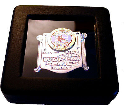 Limited Edition 2004 World Series Champions Red Sox Pin in Presentation Box