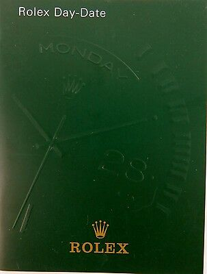 Rolex 2001 Day Date Usa Booklet ( 551.06 Usa - 4.2001 ) Near Mint Condition.