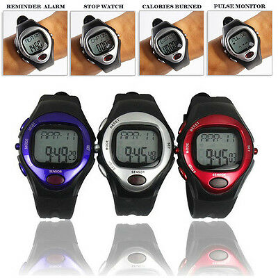 Pulse Heart Rate Monitor Calories Counter Fitness Watch Time StopWatch Alarm M2