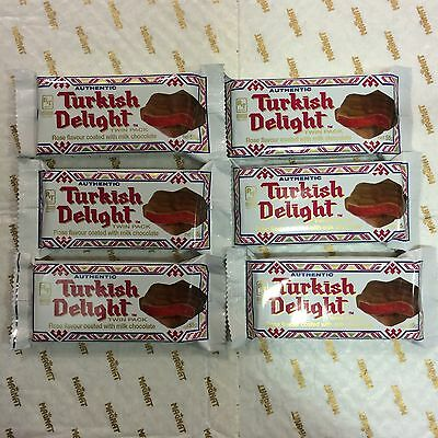 6 X Milk Chocolate Coated Rose Flavour Turkish Delight Twin Pack 55g