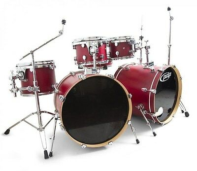 PDP FS Birch Double Bass Drum Kit Satin Cherry USED! RKPD090115