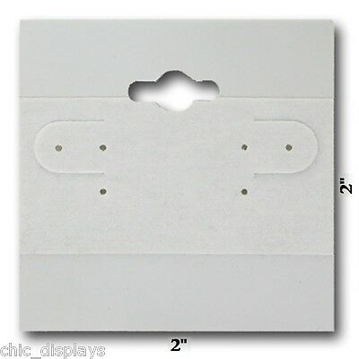 "<HOT> LOT OF 100 GRAY PLAIN EARRING CARDS w/LIP 2""x2"" GREY HANGING JEWELRY CARDS"