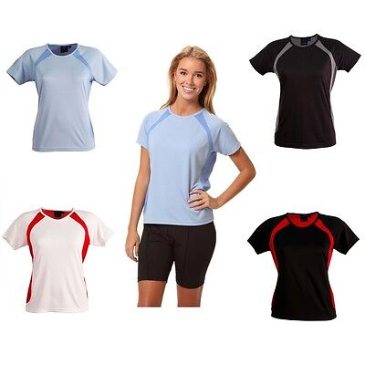 New Womens Ladiestee Short Sleeve Tshirt Bike Shirt Sport Gym Training Active T