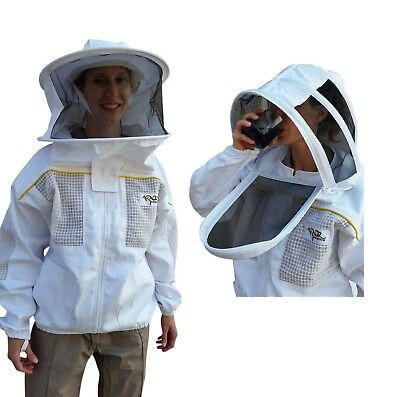 Beekeeping Jacket Oz Armour Bee Jacket Poly Cotton Semi Ventilateded (Gloves)