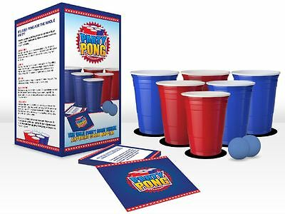 Beer Pong Party Pong Portable Drinking Game Fun Party Novelty Hen Stag
