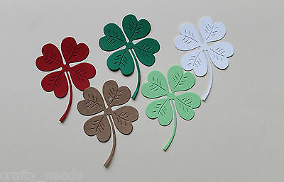 10PC -  Clover / Shamrock  Die Cuts Toppers, Embellishments