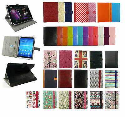 Universal Wallet Case Cover fits Logicom S1052 / E1052 10.1 Inch Tablet